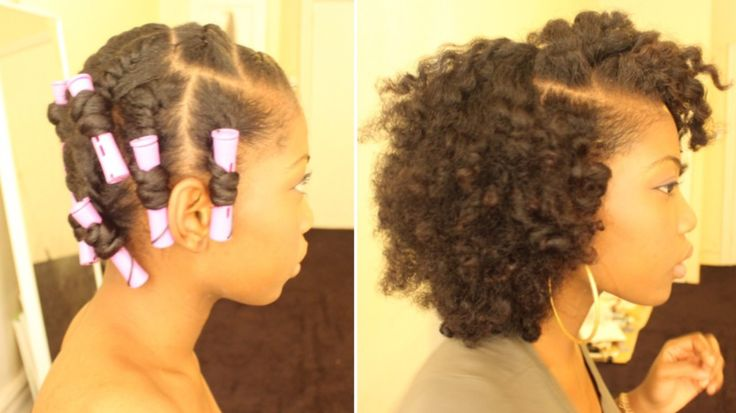 Flat Twist Out On Dry Natural Hair With Perm Rods…