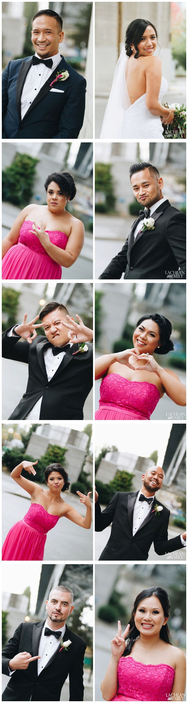 Do something different with your wedding party photos!