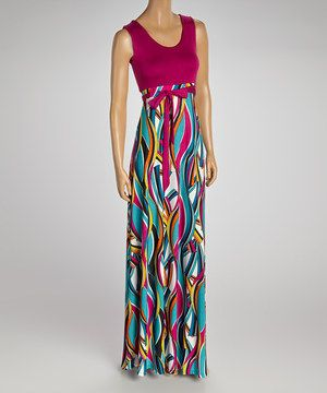 Look at this #zulilyfind! Berry Sash Maxi Dress - Women by GLAM #zulilyfinds