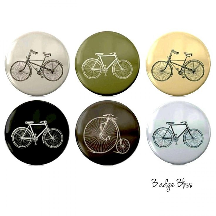 Vintage style bicycle 6 magnet set | NOOKROAD AUD $9.00  Ooh I especially LOVE the Penny Farthing one!!
