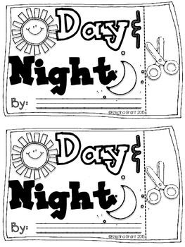 FREE Day & Night Flip Flap Book {Objects in the Sky
