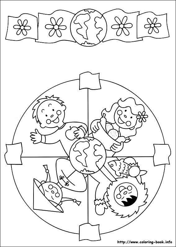 Mandalas infantiles para trabajar la atención - Escuela en la nube