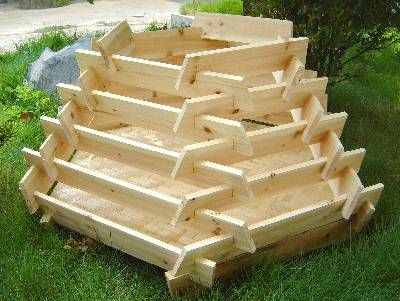 Pyramid tiered planter - strawberries would love this and easy to protect from the birds. & Best 25+ Tiered planter ideas on Pinterest | Cedar planters ... Aboutintivar.Com