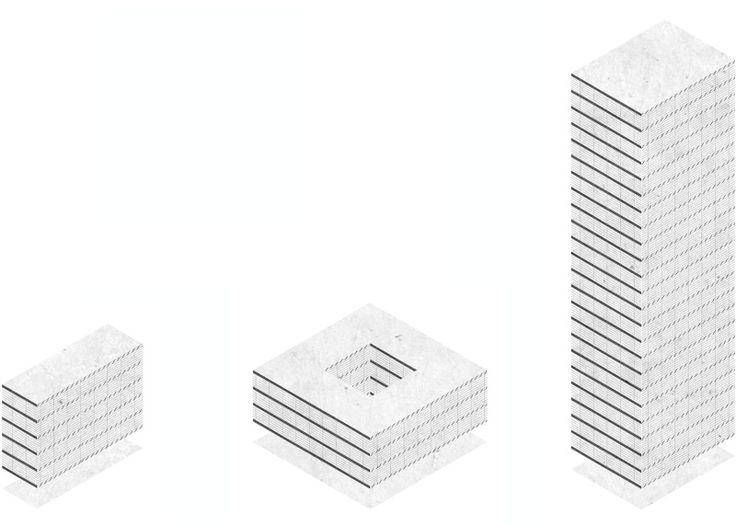 SLAB SYSTEM - Range of typologies available with the composition of the slabs.