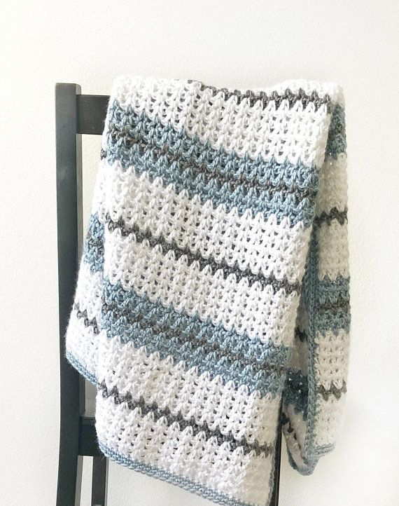 Modern Double Crochet V-Stitch Blanket Pattern | Products ...