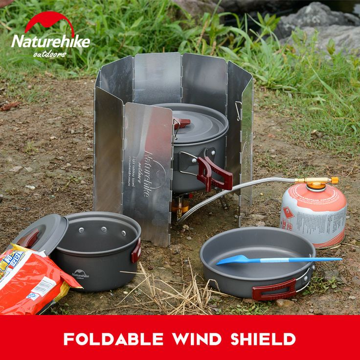 Naturhike NH15F008-B Ultralight Outdoor 8 Plate Foldable Wind Shield Camping Stoves Cooker folding light wind guard windproof #Affiliate