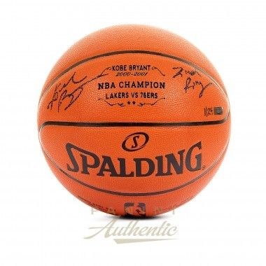 """KOBE BRYANT Autographed Laser Engraved 2nd Championship Replica Basketball with """"2nd Ring"""" Inscription PANINI LE 24 - Game Day Legends"""