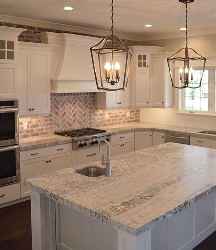 22 White Kitchens That Rock: Best 25+ Brick Backsplash White Cabinets Ideas On