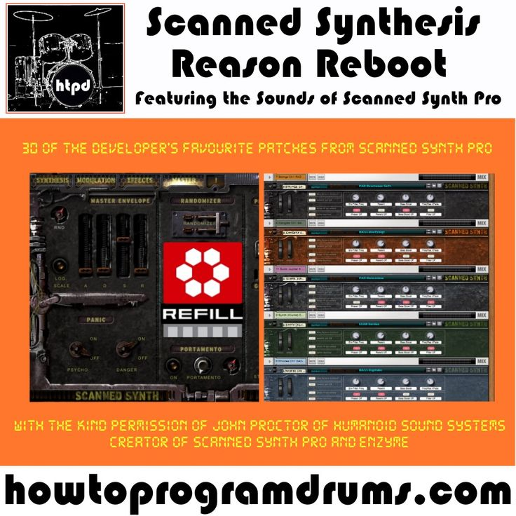 Get the sounds of Scanned Synth for your Reason Rack without fiddling about with Rewire