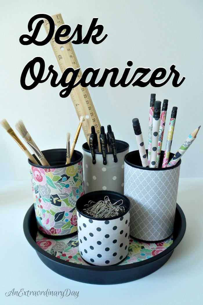 Crafty Desk Organizer for the Office or Craft Room