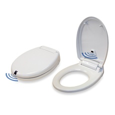 itouchless sensor control plug in round toilet seat bed