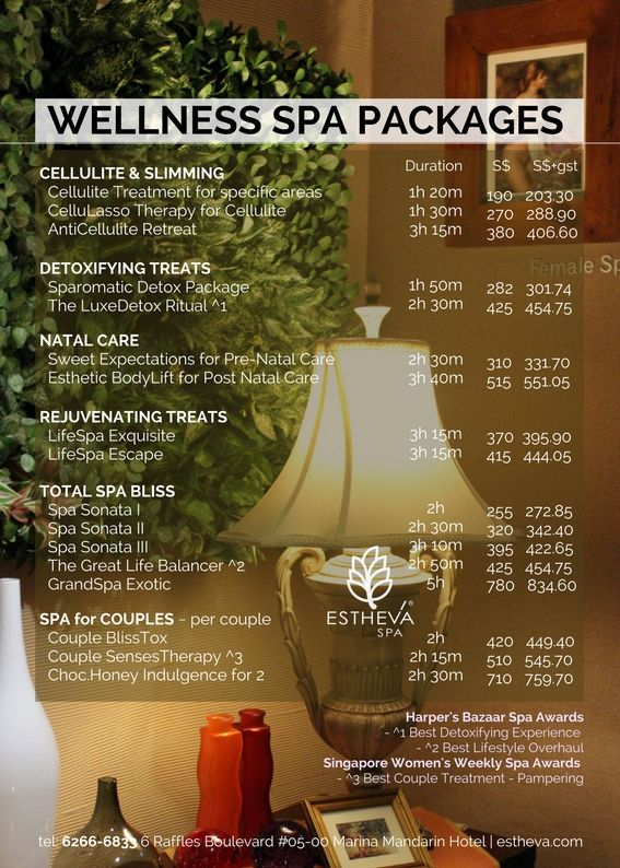 Spa Packages Singapore Best Luxury Spa Treatments Estheva Spa Spa Menu Spa Packages Luxury Spa Treatment