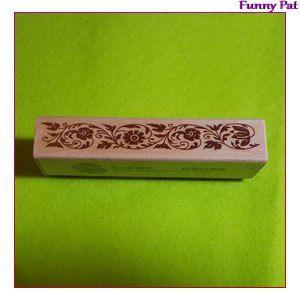 Tampon en bois motif bordure florale 90×19mm. Utilisation : -multicouche en pate polymère -scrapbooking -décoration