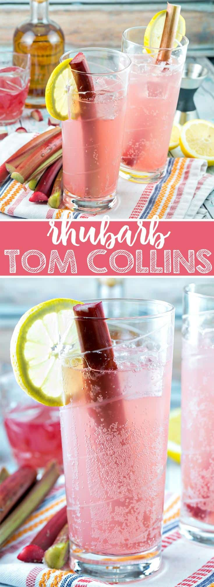 Rhubarb Tom Collins