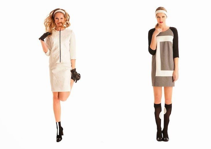 #dress #fashion #bonton #grey #girl #style #outfit  #fashionblog #fashionblogger #sixties #outfit #ootd #coat #collection #white #tailleur #geometric 1One fashion dresses collection made in italy, tailleur cappotti sartoriali tagli geometrici, outfit abito manica lunga elegante ufficio ann...