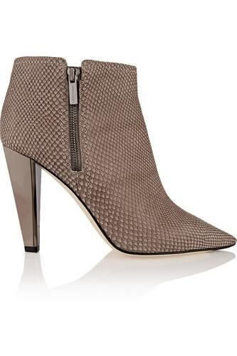 Haydn snake-effect leather ankle boots #boots #covetme #jimmychoo