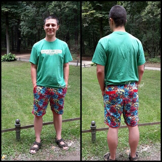The short trousers with a design of skulls. #skullsshorts #funnyshorts #spodenkiwczachy #wesolespodnie #stefcia.pl
