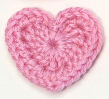 tutorial to make crochet hearts...almost enough to make me break down and figure out crochet instructions and graduate from single and double chains