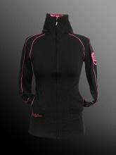 Ladies - Zip up Mock - Jersey Spandex - Black