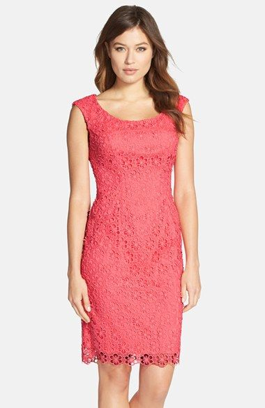Adrianna Papell Floral Lace Sheath Dress available at #Nordstrom
