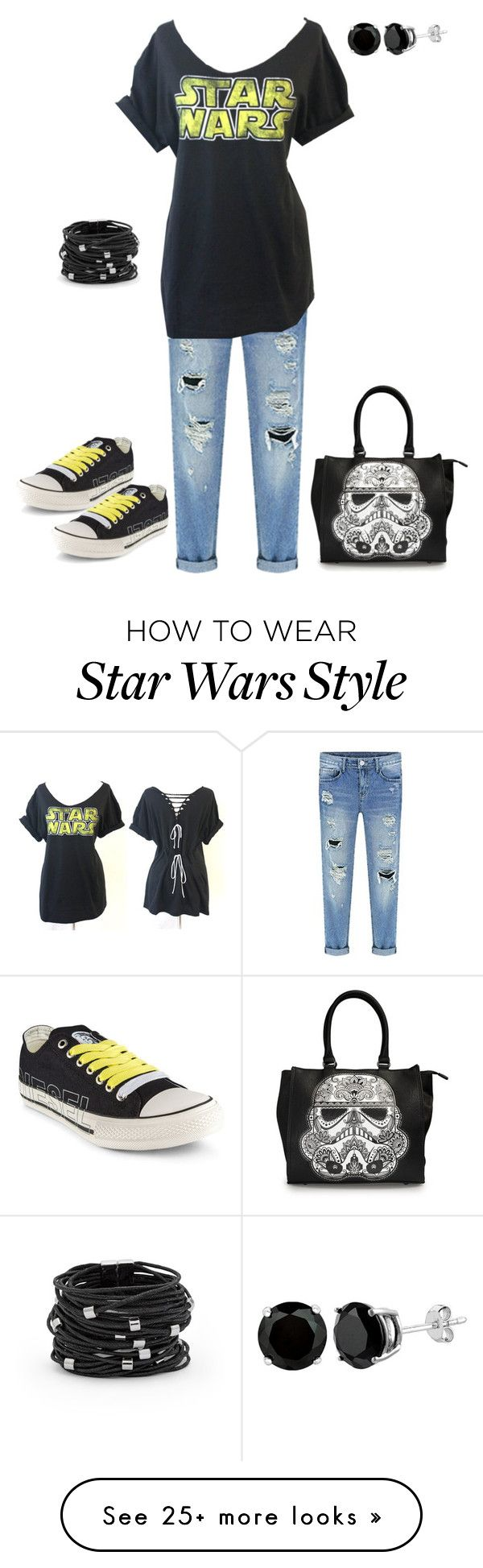 """Star Wars Caz"" by guliverlouise on Polyvore featuring Diesel, Loungefly and Chico's"
