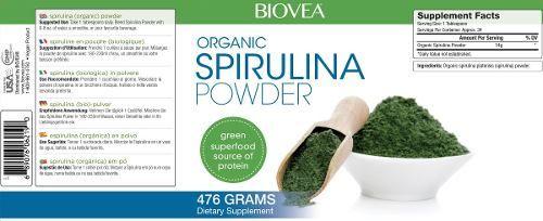 spirulina organica em po 476 gramas