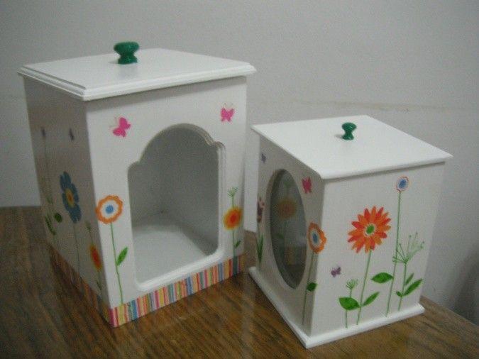Cajas para guardar las galletitas para poner la yerba y - Cajas de madera decorativas ...