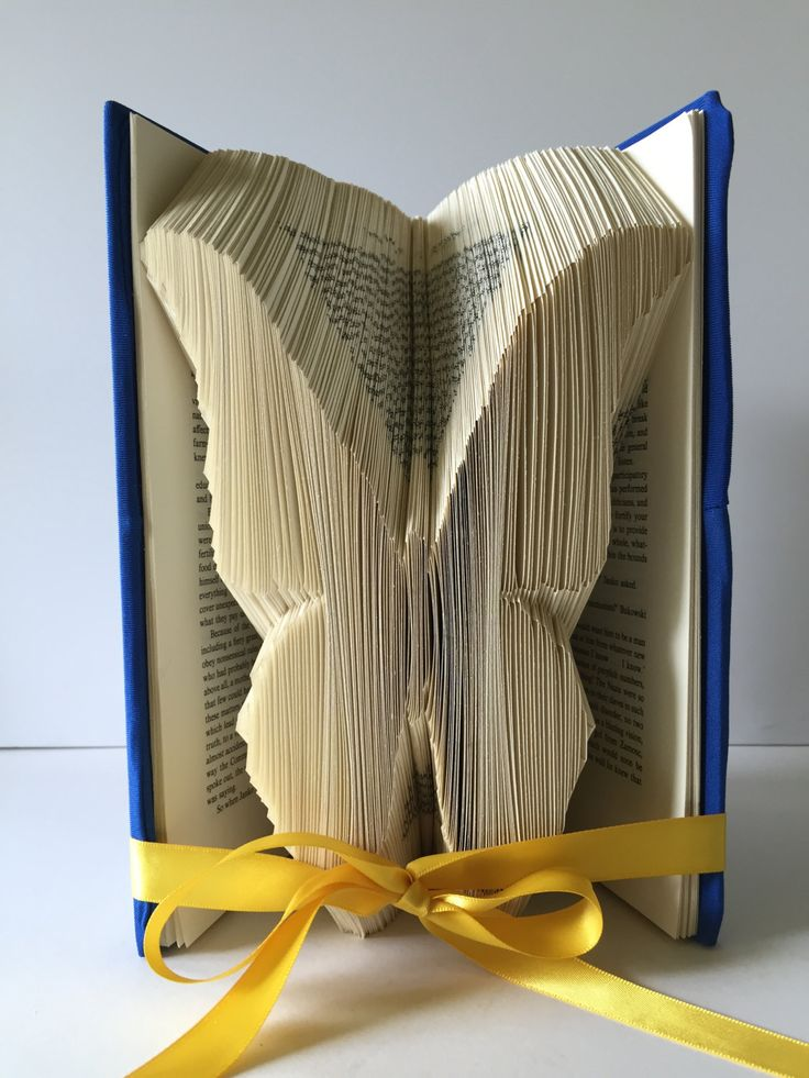 Folded Book Art, Thinking of You Gift, Paper Anniversary, Wedding Bridal Shower, Butterfly Centerpieces, Unique, Personalized, Custom Order by GiftwithTreasures on Etsy