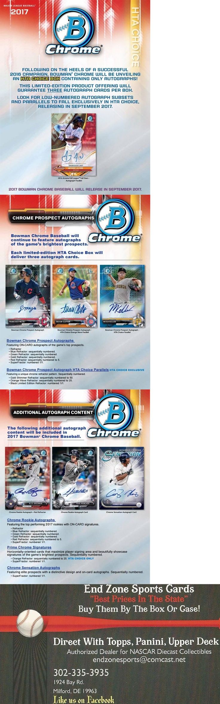 Nintendo started business back in 1887 where they originally made card - Baseball Cards 213 2017 Bowman Chrome Baseball Choice Box 3 Auto S Pre Sell