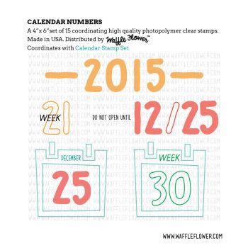 271021z Calendar Numbers Stamp Set Idea Sheet