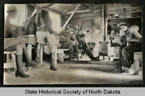 Civilian Conservation Corps boys relaxing in canteen North ...