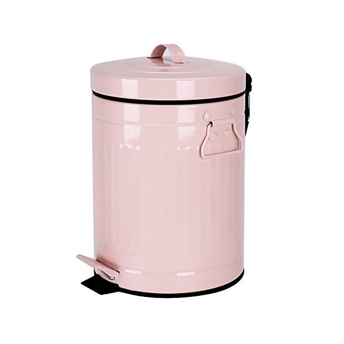 Mingol Bathroom Trash Can With Lid Pink Trash Can For Bedroom