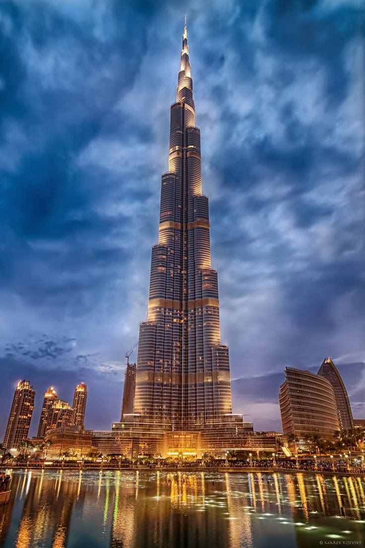 Burj Khalifa, known as Burj Dubai prior is the tallest man-made structure in the world, at 829.8 m (2,722 ft). #riverisland