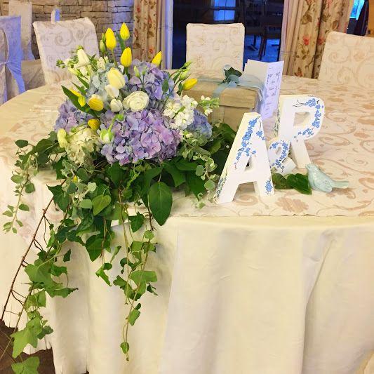 #blue #wedding #hydrangea
