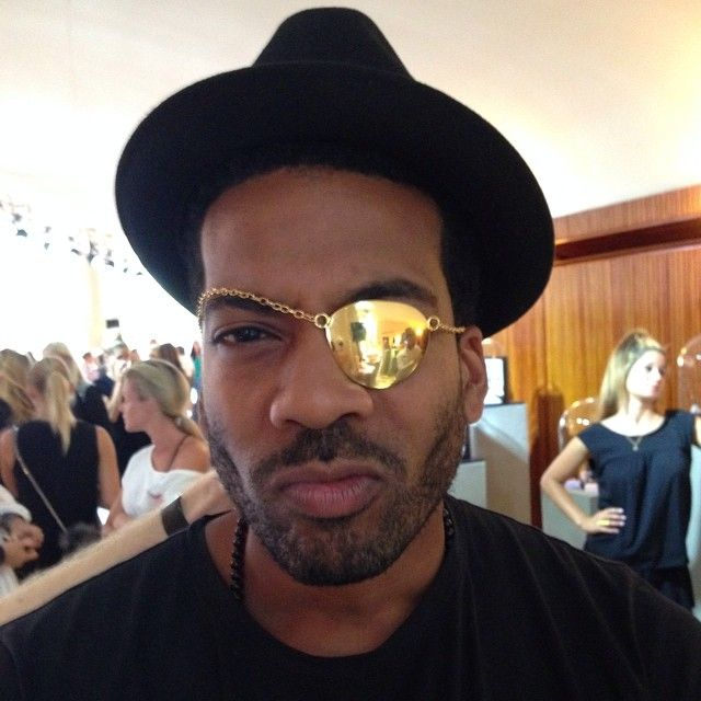 @bobbybovell is rocking our show piece - THE PIRAT #cool #awesome #bobbybovell #showpiece #ThePirat #lulubadulla #jewelry #danish #contemporary #design #cphfw #thejewelleryroom #thejewelleryshow @pernillegoldmind @charlottegoldmind @goldmind_dk
