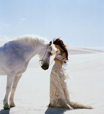 Wow, there's so much love in this photo. Reminds me of the loving bond Ebony shares with her horse Shadow.