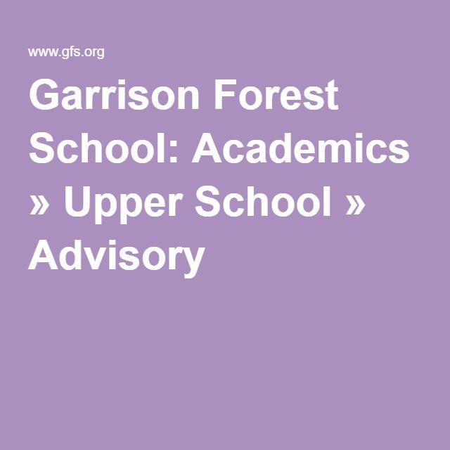 Garrison Forest School: Academics » Upper School » Advisory