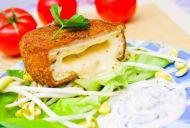 Crispy Camembert with Celeriac and Pear Salad