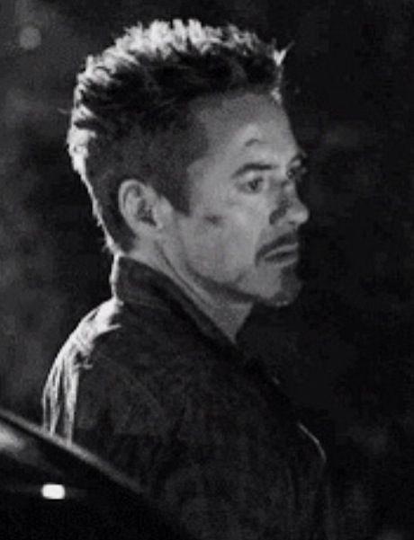 Tony Stark, Iron Man 3. His hair.