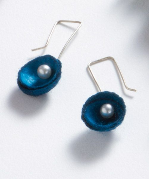Silk Cocoon Earrings, Earrings, Jewelry - The Museum Shop of The Art Institute of Chicago