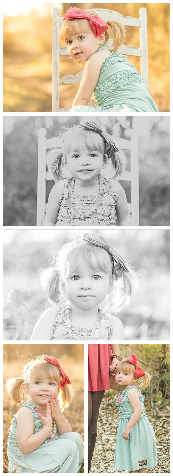 2nd second birthday picture ideas, daughter's pictures, baby girl, little girl picture ideas, rent my dust, antique chair, backlight, back light, big pink bow, matilda jane dress, children's portraits, creative photography