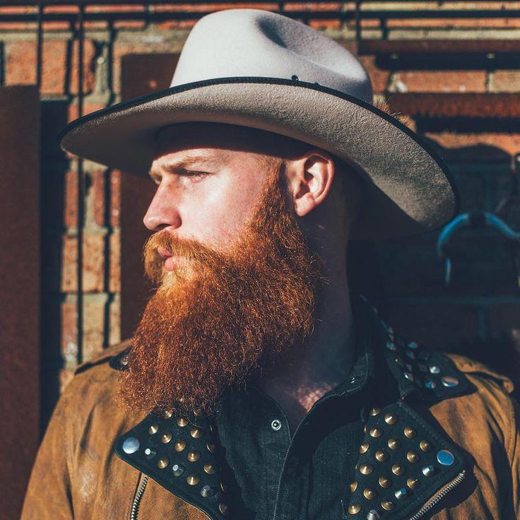 Gwilym Pugh - full thick red beard mustache beards bearded man men mens' fashion style model Western cowboy redhead ginger handsome #beardsforever