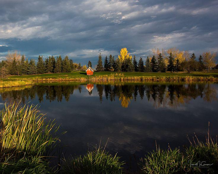Park in fall (Regina, Saskatchewan) by Ian McGregor