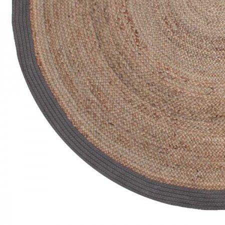 Vloerkleed jute 150 cm grijs verschillende kleuren label 51