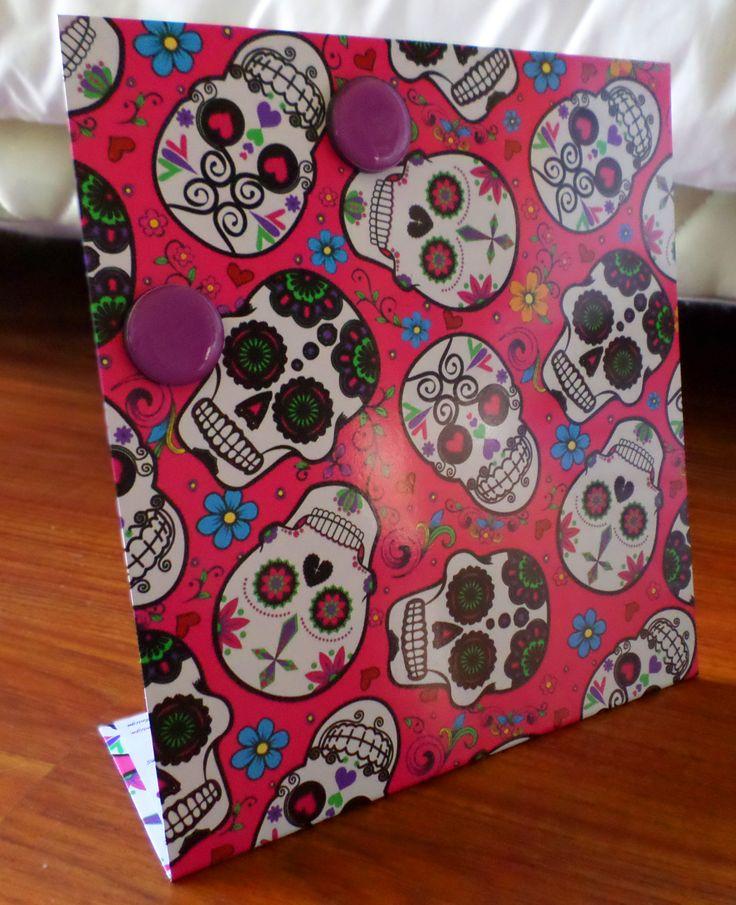 Portarretratos magnético diseño calaveras mexicanas, varios colores!  www.facebook.com/malabaresdesign
