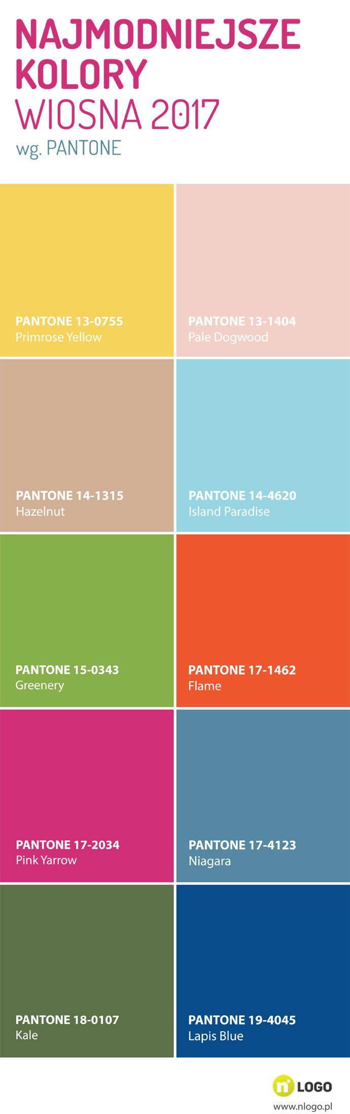 Najmodniejsze kolory na wiosnę - 2017  http://www.nlogo.pl/wiedza/najmodniejsze-kolory-na-wiosne-2017-infografika