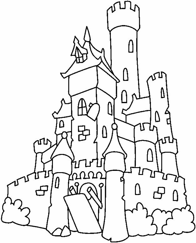 castle coloring pages printable for kids - Medieval Coloring Pages Printable
