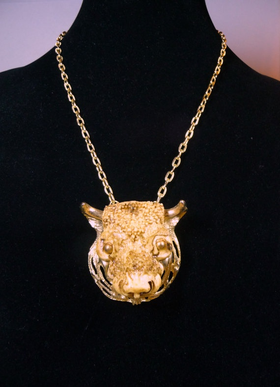 Luke RAZZA Taurus Zodiac Necklace Unworn Mint by VintagebyMelinda, $75.00
