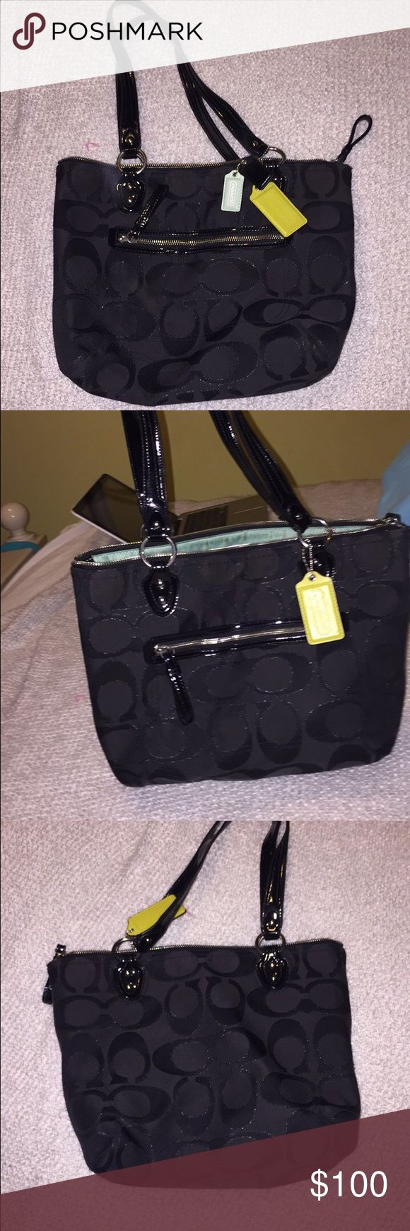 Authentic Coach Purse Good condition. Black Coach tote Coach Bags Totes