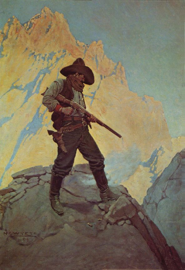 """NC Wyeth, """"The Last Stand"""""""